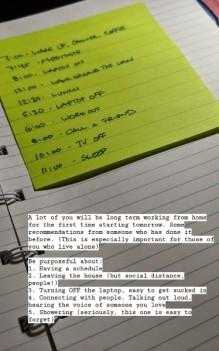 WFH Schedule IG